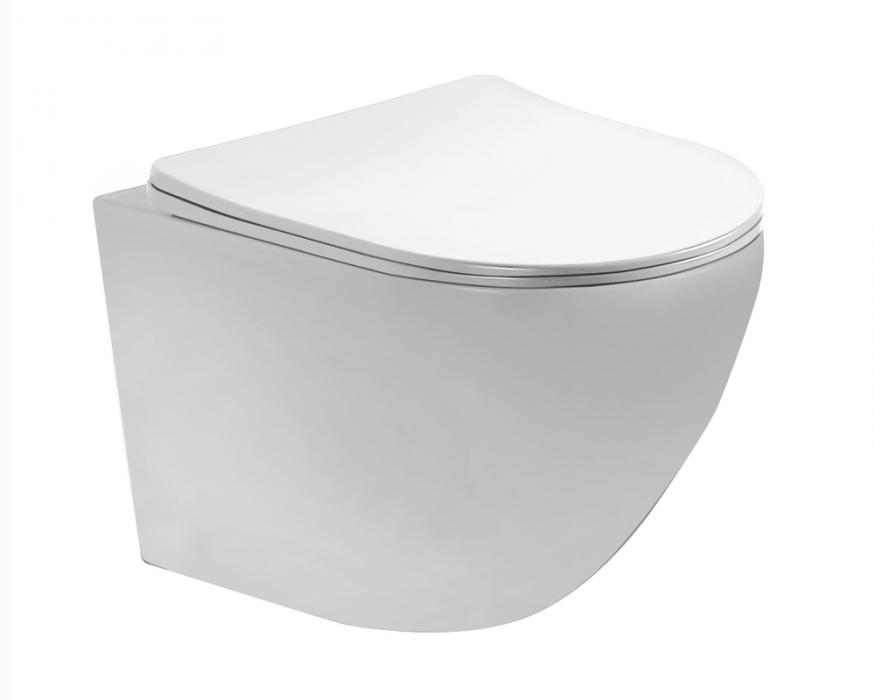 Matt white color wall hung toilet