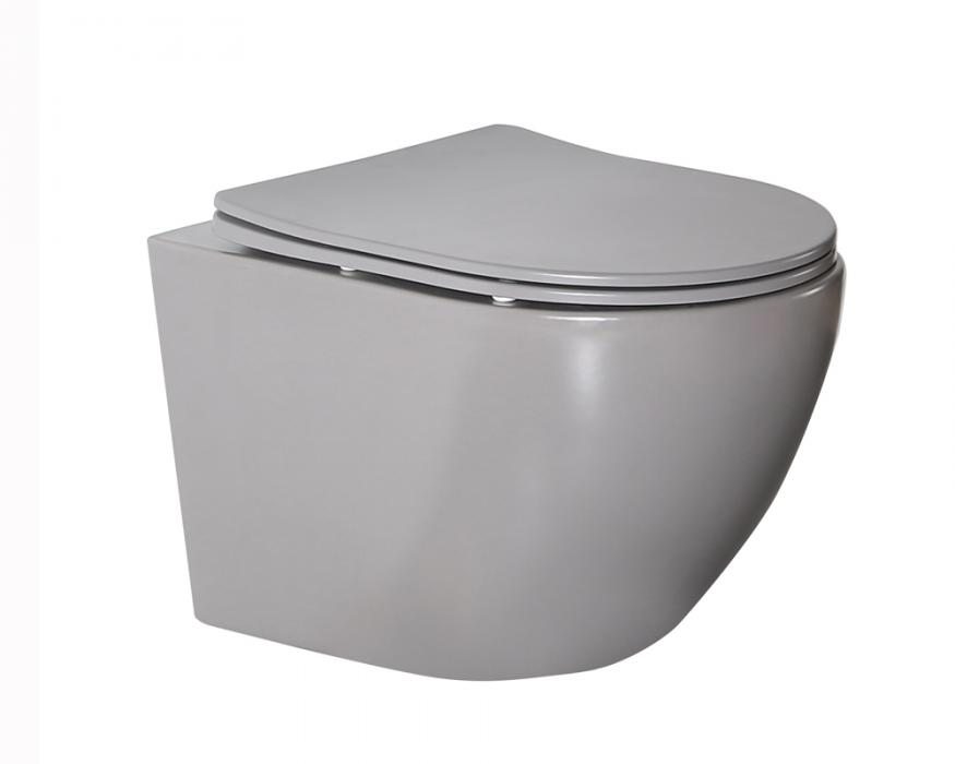 Grey matt color wall hung toilet