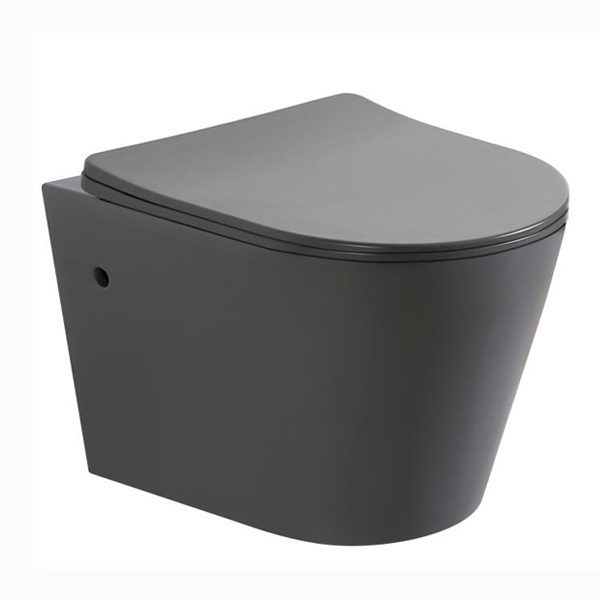 Matt Grey color wall hung toilet