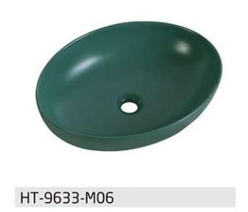 Matte  green color wash bsin