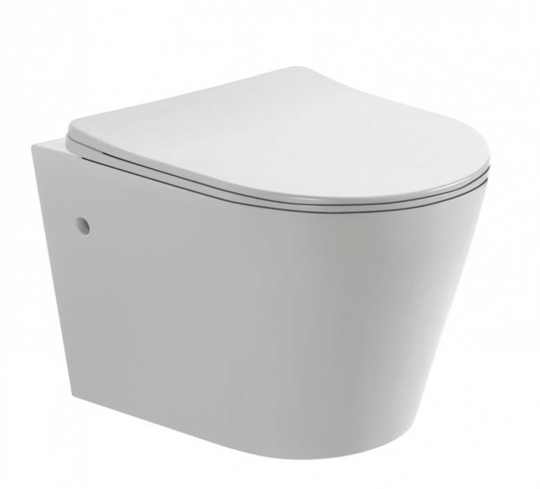 Glossy White wall mounted toilet