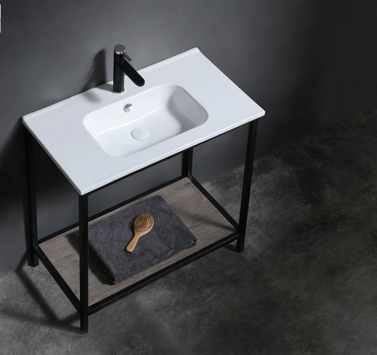 80cm high quality retangle cabinet basin produce by Germany full automatic computer kils with cheap price for cabinet vanity factory made in China