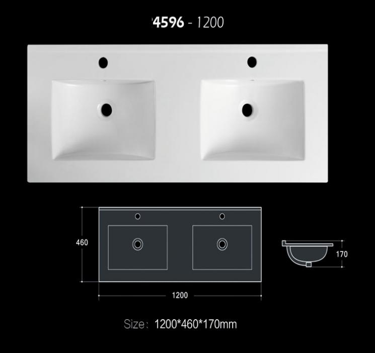 120cm double basin bathroom sink matt color and glossy color allowed