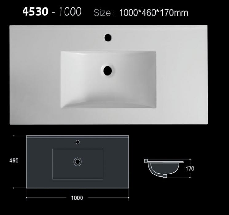 100 cm Matt and glossy color allowed bathroom sink for vanity with CE and CUPC approval