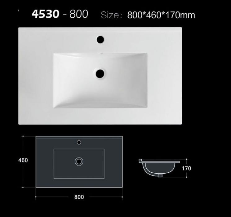 80 cm Matt and glossy color allowed bathroom sink for vanity with CE and CUPC approva