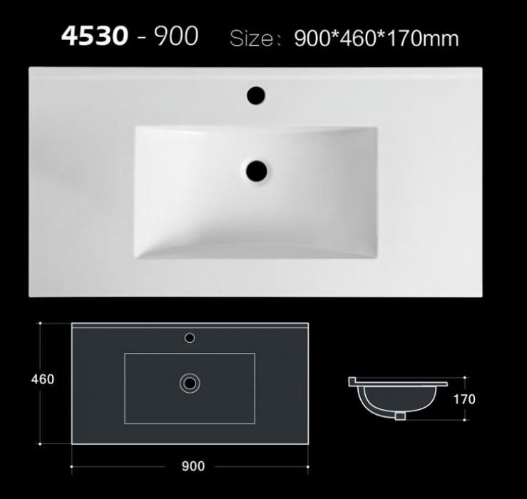 90 cm Matt and glossy color allowed bathroom sink for vanity with CE and CUPC approva