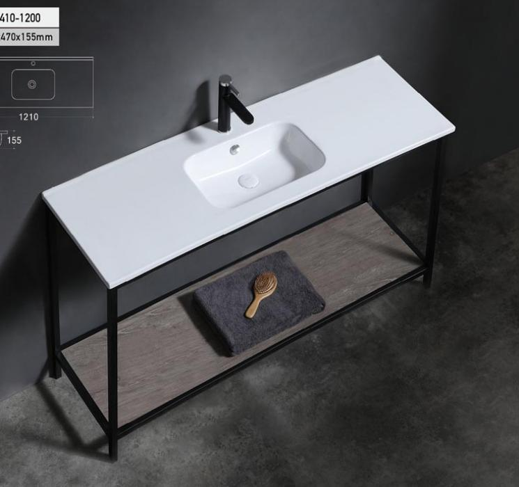 120cm matt color allowed cabinet basin with single tap hole for vanity